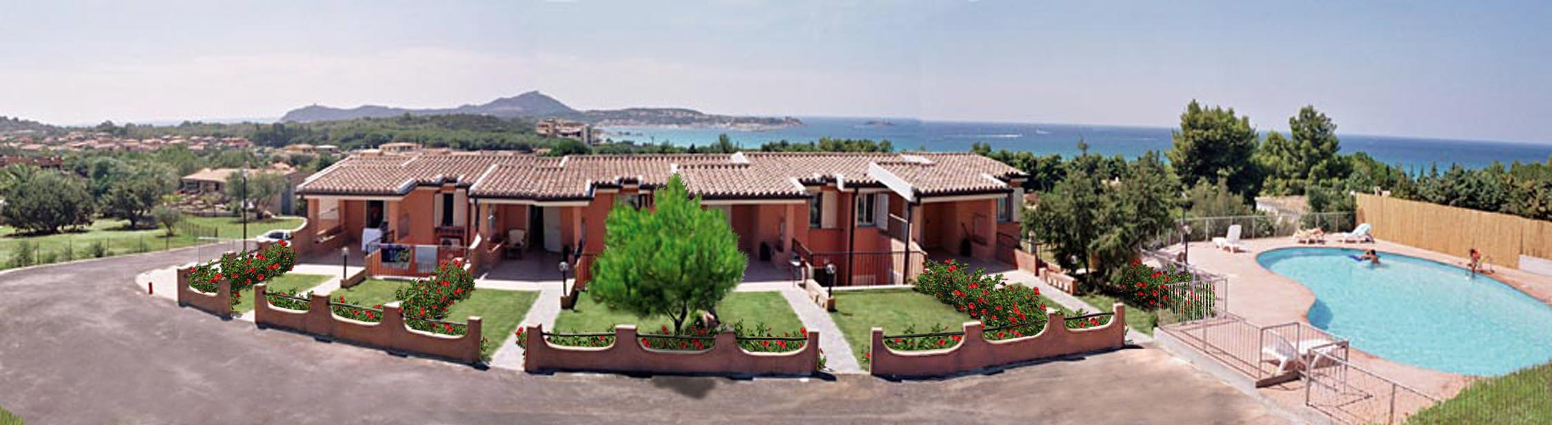 Detatched houses of the Residence la chimera in Villasimius, for a relaxing holidays in Sardinia