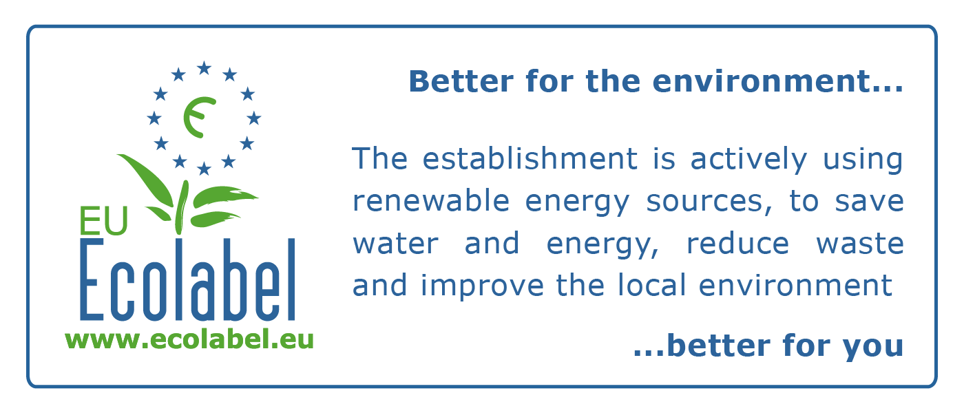 Ecolabel logo is the reward for the commitment in environmental protection of our ecological apartments
